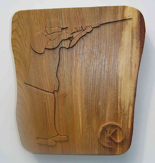 clay pigeon trophy